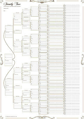 Family Tree Chart - 8 Generation Pedigree Chart Rolled in a Tube