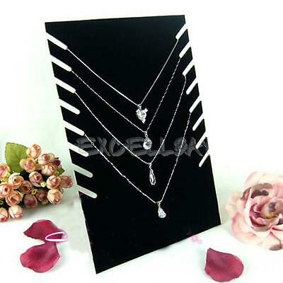 Black Velvet Necklaces Holder Show Case Display Stand Jewelry Display Base New