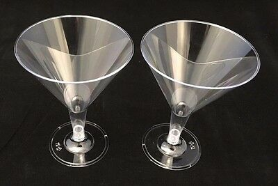 36 x Disposable Clear Plastic Martini Cocktail Champagne Wine Glasses