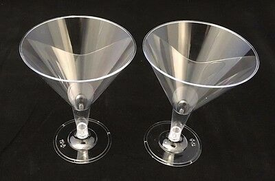 72 x Disposable Clear Plastic Martini Cocktail Champagne Wine Glasses