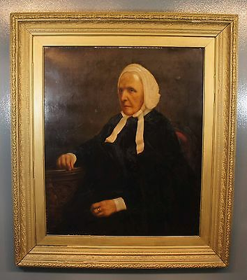 """Large Antique Old Master Female Portrait Oil Painting on Canvas Unsigned 39""""x34"""""""