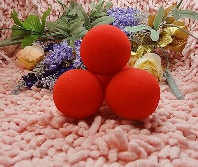 New Magic Trick 4 Sponge Balls Red Soft 2 Inch 4 Red ballst