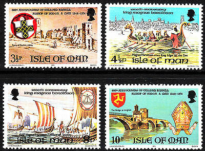 1974 Isle of Man Historical Anniversaries SG50 - 53 Complete Set FREEPOST MNH