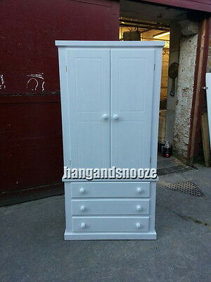 Hand Made Dewsbury Gents 3 Drawer Wardrobe  (No Flatpack)