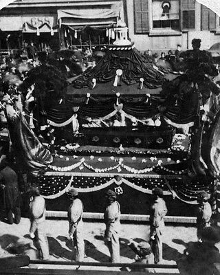 New 8x10 Photo: President Abraham Lincoln  Coffin and Catafalque in New York