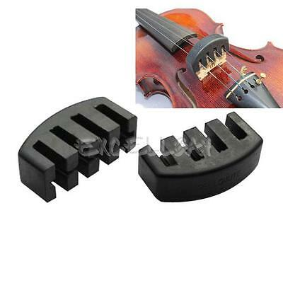 Violin Practice Mute Heavy Black Rubber Violin Silencer Acoustic Electric