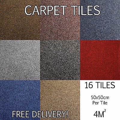 Brand New Heavy Contract Heavy Domestic Quality Retail Carpet Tiles - Flooring