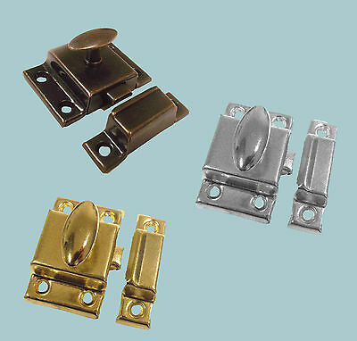 1 x Traditional Metal Cupboard Cabinet Door Thumb Turn Catch Latch Lock