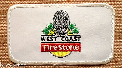 Firestone West Coast Tires Patch Embroidered Vintage 4-5/8 inches