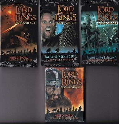 Lord of the Rings - Sealed Booster/Starter Deck Choice -LOTR-CCG-TCG