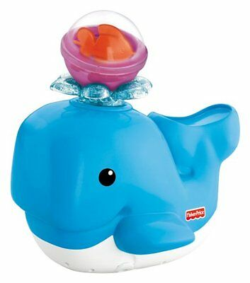Toy Kids Fisher-Price Brilliant Basics Spray N Lights Bath Whale Gift Play Chil