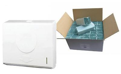 C Fold Compact ABS Hand Paper Towel Dispenser & FULL CASE OF PAPER