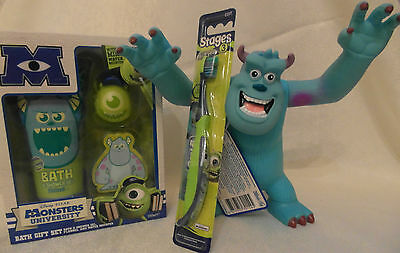 Monsters University Set - Toothbrush, Bath & Shower Gel, Bath Gift Set with Mike