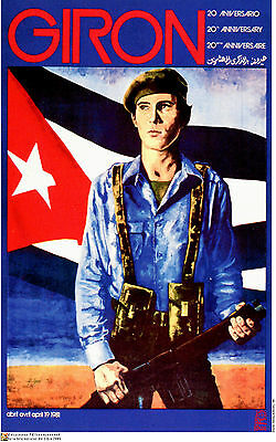 Political Cuban POSTER.Cuba Anti-Imperialism.Castro Cold War History art.am30