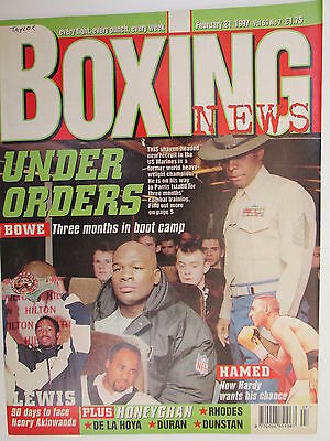 Boxing News  21 Feb 1997 Bowe Hamed Lewis Tarver Hamed Alan Temple Ray Newby