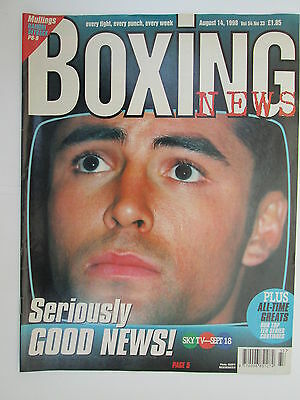Boxing News 14 Aug 1998 Oscar De La Hoya Michael Sprott Patrick Mullings Ingle,