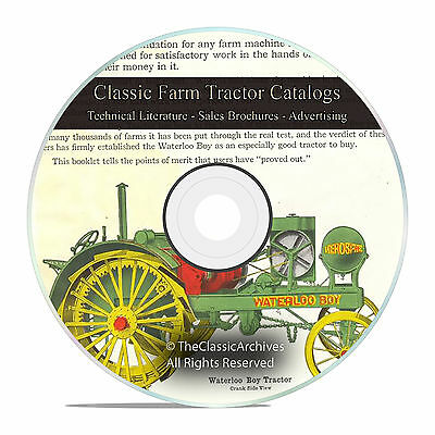 Farm Tractor Catalog, Massey Harris, Twin City, Rumely, IHC Tractors, DVD V36
