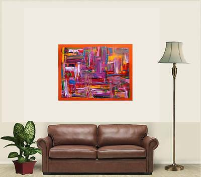 modern art acryl kunst auf plexiglas abstrakt gem lde picture bild silberstreif eur 244 00. Black Bedroom Furniture Sets. Home Design Ideas
