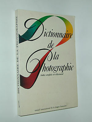 DICTIONNAIREde la PHOTOGRAPHIE en francais 24 x16 cm PHOTO