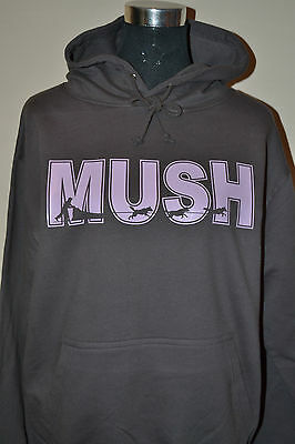 Mush Text Personalised Hoody Musher Siberian Husky Sibes Sled Dog Gift Present