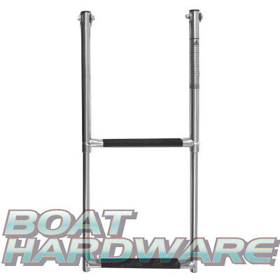 Telescopic 2 Step Boarding 600mm Ladder 316 Marine SS Stainless Steel Boat Yacht