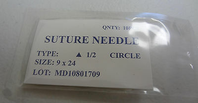 10 PCS PACK SUTURE NEEDLES 1/2 CIRCLE Surgical INST