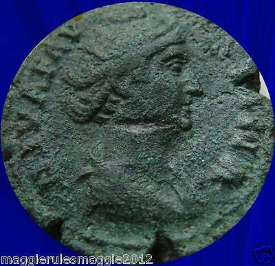 Faustina Sr. Diva High Quality Issue Ancient Roman Bronze Sestertius Lot A/s50