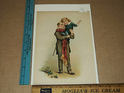 Rare Antique Vintage Period circa.1900's Tiny Tim Litho Art Print