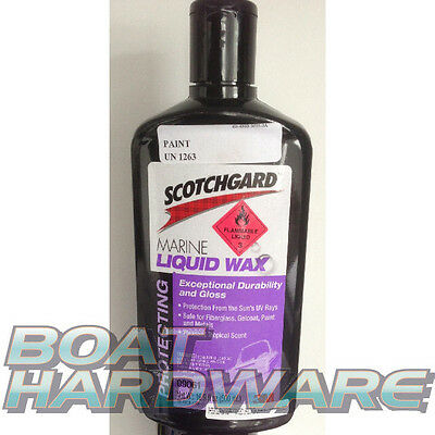 Scotchgard™ Marine Liquid Wax for Boat Jetski Yacht Canoe High Gloss Long Last
