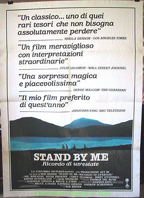 STAND BY ME MOVIE POSTER Original Italian 39x55 Damaged