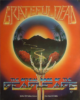 """Grateful Dead : Promo Poster """"the Official Book Of The Deadheads"""" 1983"""