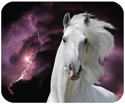 Mouse Pad Custom Personalized Thick Mousepad-Horse-Lightening-Add Any Text Free