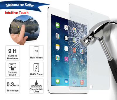 """2x Tempered Glass Screen Protector Film for Apple iPad 9.7"""" 2017  6th-Gen 2018"""