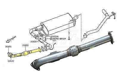 For Nissan Navara D40 2.5 Dci Td Diesel 2005-2007 Exhaust Front Pipe And Flexi