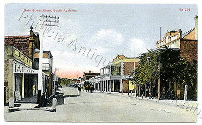 C1907 Pt Pu Postcard Main Street Clare With Clare Hotel (Right) Sa E8