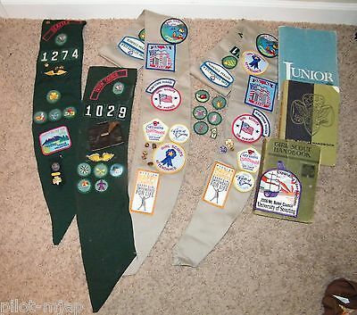 Vintage ~ Girl Scout ~ Sashes / Patches / Pins / Handbooks / Coin Purse