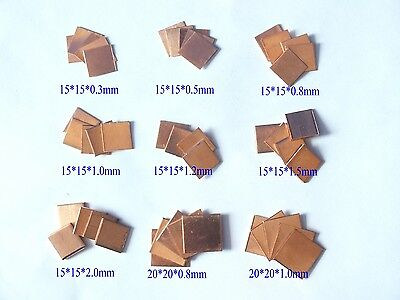 10 x Copper Heat Sink Cooling Heatsinks Pad Shim Laptop CPU GPU Heatsink