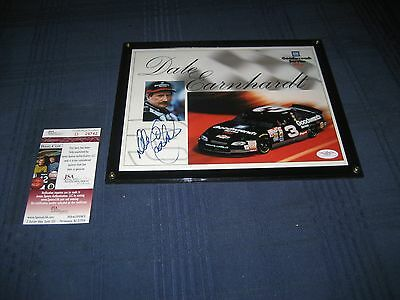 Dale Earnhardt Sr Hand Signed and Framed 8x10 Photo goodwrench auto parts jsa