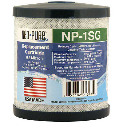Neo-Pure  NP-1SG Replacement water Cartridge - Seagull IV ® RS-1SG Compatible