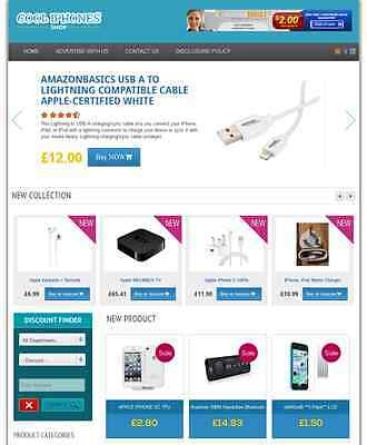 Iphones & Accessories Store - Fully Developed Amazon Affiliate Website For Sale