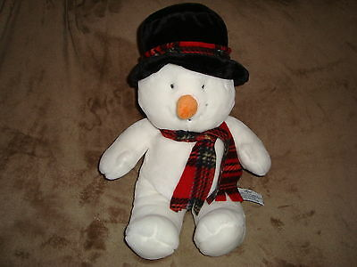 """Russ Snowman with Black Tophat Plush & Beans 18"""" tall"""