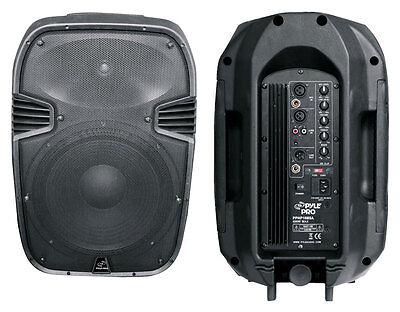 """Powered Portable Amplified 10"""" inch Guitar Home Audio Speaker XLR 1/4"""" RCA Mixer"""