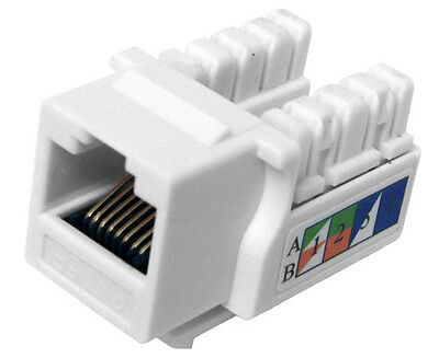 10x CAT 5E Keystone Jack RJ45 Ethernet Network Data Almond K52-160//L90//WH