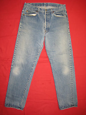 D6529 Vintage levi's 501 jeans 34x33 used transitional made in the U.S.A.