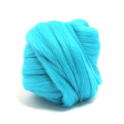 50g DYED MERINO WOOL TOP TURQUOISE BLUE DREADS 64's SPINNING FELTING ROVING