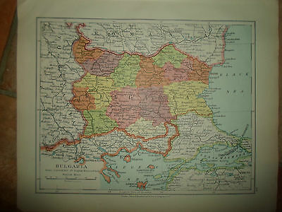 MAP c1920 BULGARIA Taken From Stanfords London Atlas of Universal Geography