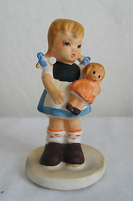 Napco little Girl Figurine with Dolly, Japan, No Label