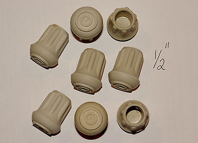 """(8) New 1/2"""" Heavy Rubber Cane Tips For Walking Sticks, Crutches, & Walkers"""