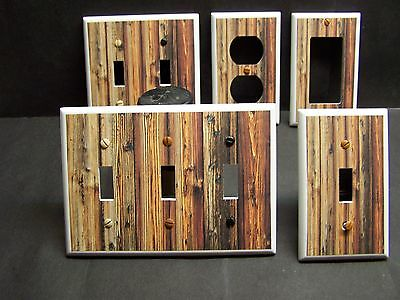 Wood Planks Image Rustic Country Decor Light Switch Or Outlet Cover V499