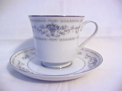 lot of 1 cup & 1 saucer Diane Wade China from Japan blue flowers - 2 piece set
